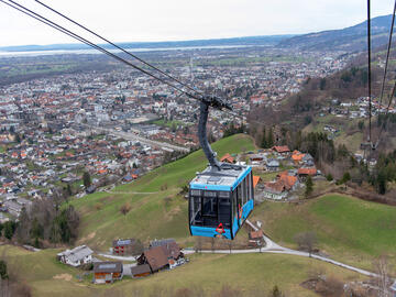 The Karren peak and cable car