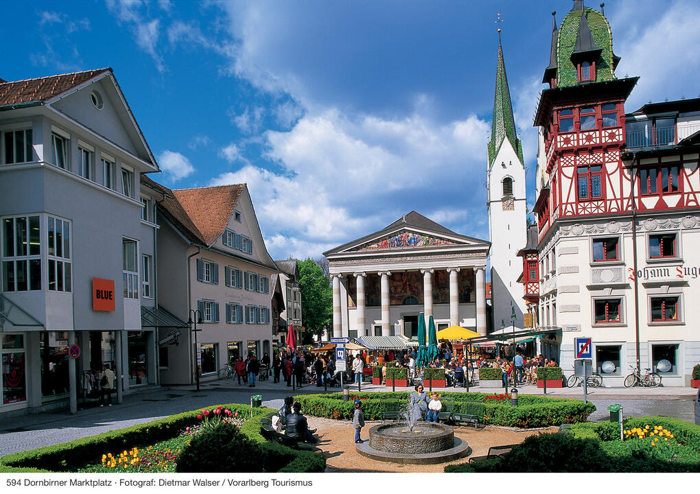 Dornbirn city centre - market place
