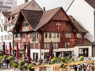 Dornbirn city centre - the red house
